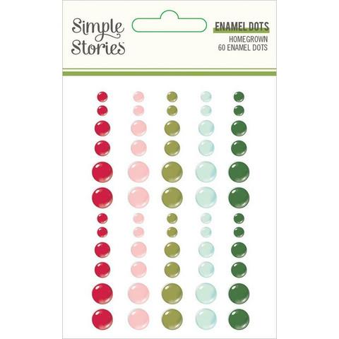 Simple Stories - Holly Days Enamel Dots, 60 kpl