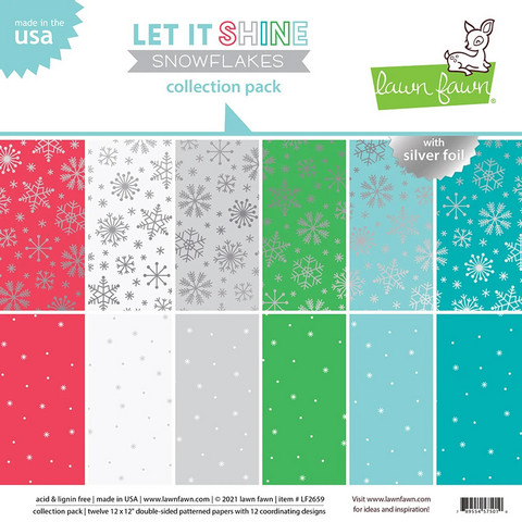 Lawn Fawn - Let It Shine Snowflakes Collection 12