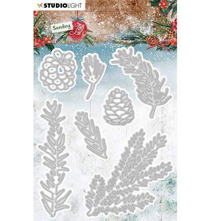 Studio Light - Sending Joy nr.47, Stanssisetti, Branches/Pine Cones