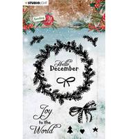 Studio Light - Sending Joy nr.52, Leimasetti, Christmas Wreath