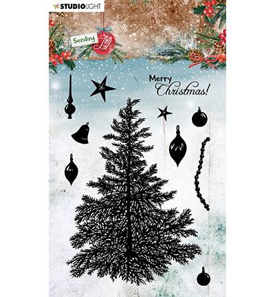 Studio Light - Sending Joy nr.53, Leimasetti, Build a Christmas Tree