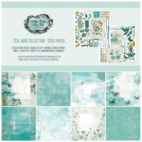 49 And Market - Vintage Artistry In Teal, Collection Pack 12