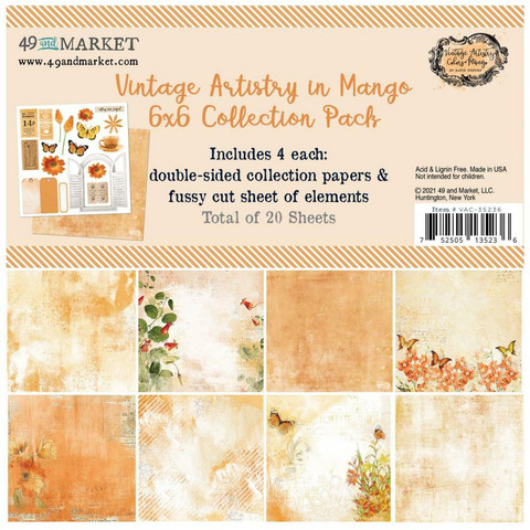 49 And Market - Vintage Artistry In Mango, Collection Pack 6