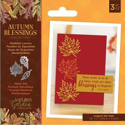Crafter`s Companion - Autumn Blessings, Stanssisetti, Skeleton Leaves