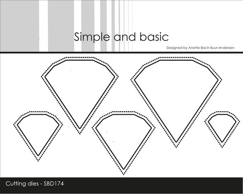 Simple and Basic - Stanssisetti, Outline Diamonds