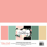 Echo Park - Wedding Solids Kit, 12