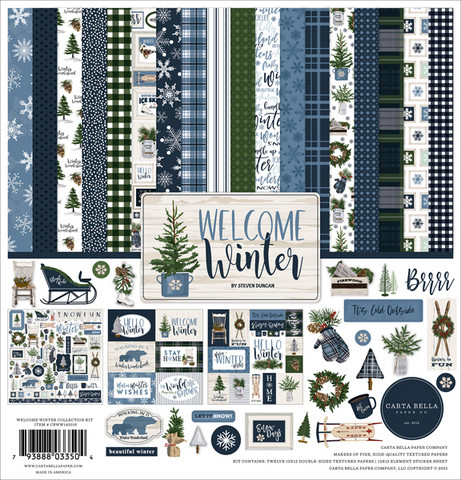 Carta Bella - Welcome Winter, Collection Kit 12