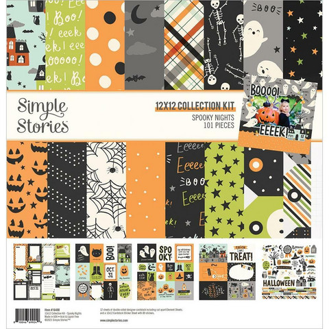 Simple Stories - Spooky Nights Collection Kit 12