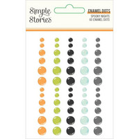 Simple Stories - Spooky Nights Enamel Dots, 60 kpl