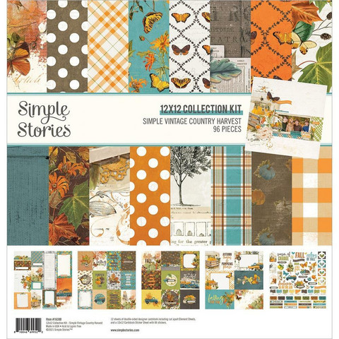 Simple Stories - Simple Vintage Country Harvest Collection Kit 12