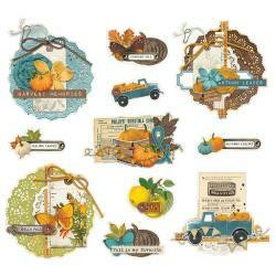 Simple Stories - Simple Vintage Country Harvest, Chipboard Clusters, 11osaa