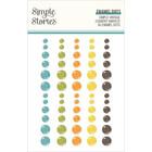 Simple Stories - Simple Vintage Country Harvest Enamel Dots, 60 kpl
