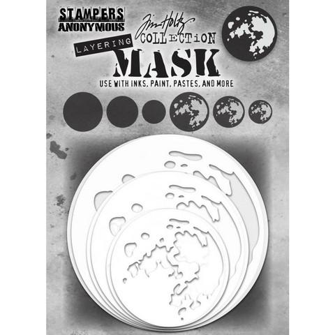 Tim Holtz - Layering Mask Set, 6osaa, Moon