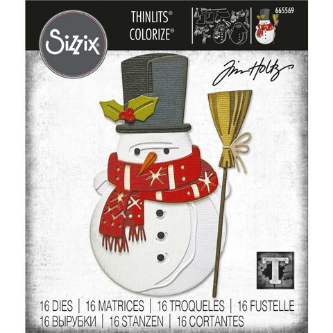Sizzix - Thinlits Dies By Tim Holtz, Stanssisetti, Winston Colorize