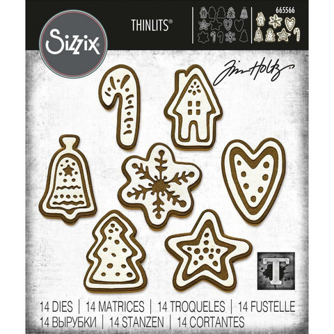 Sizzix - Thinlits Dies By Tim Holtz, Stanssisetti, Christmas Cookies