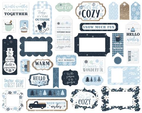 Echo Park - Winter Frames & Tags, Leikekuvia, 33 kpl