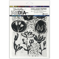 Dina Wakley Media - Collage Tissue Paper, Things That Grow, 20 arkkia