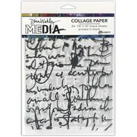 Dina Wakley Media - Collage Tissue Paper, Text Collage, 20 arkkia