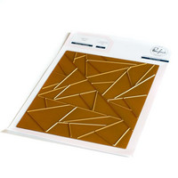 Pinkfresh Studio - Abstract Triangles, Hot Foil Plate