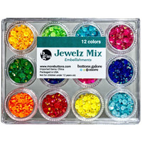 Buttons Galore - Jewelz Mix, 12x3,5g, Brights