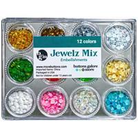 Buttons Galore - Jewelz Mix, 12x3,5g, Holiday
