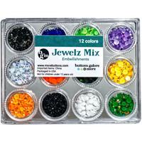 Buttons Galore - Jewelz Mix, 12x3,5g, Halloween