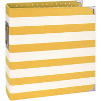 Sn@p! Designer Binder 6'X8', Yellow Stripe