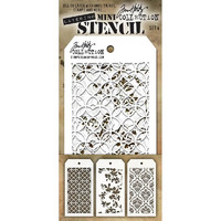 Tim Holtz Mini Layered Stencil, Set #4