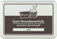 Leimamustetyyny, Lawn Fawn Dye Ink, Soot