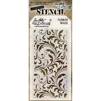 Tim Holtz Layered Stencil, Flourish
