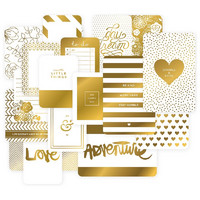 Project Life Specialty Themed Cards, Golden, 40kpl