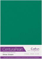 Crafter`s Companion - Helmiäiskartonki, Xmas Green, A4, 10ark