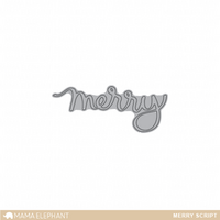 Stanssi, Mama Elephant Creative Cuts, Merry Script