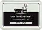 Leimamustetyyny, Lawn Fawn Dye Ink, Black Licorice
