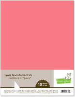 Lawn Fawn - Guava Cardstock 8,5