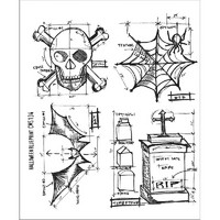 Leimasetti, Tim Holtz Halloween Blueprint