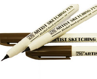 ZIG Artist Sketching Pen, 0,6mm, sepia