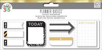 Happy Planner tarra-arkkeja, Black, White and Gold, 7x20arkkia