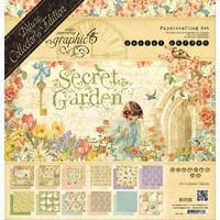 Paperikko, Graphic 45 Deluxe Collector's Edition Pack, Secret Garden, 12'x12', 24sivua UUSI
