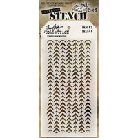 Tim Holtz Layered Stencil, Tracks