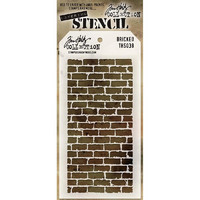 Tim Holtz Layered Stencil, Bricked