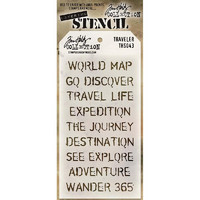 Tim Holtz Layered Stencil, Travelers