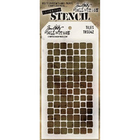 Tim Holtz Layered Stencil, Tiles