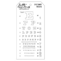 Tim Holtz Layered Stencil, Eye Chart
