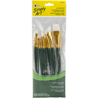 Pensselisetti, nylon, 10kpl