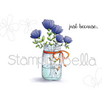 Leima, Stamping Bella, Mason Jar Of Flowers