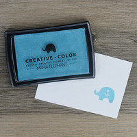 Mama Elephant Creative Color Pigment Ink-leimamuste, Pacific Blue