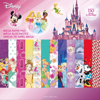 Paperikko, Disney Single-Sided Mega Paper Pad 12'X12', 150sivua