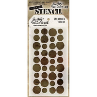 Tim Holtz Layered Stencil, Splotches