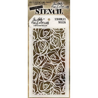 Tim Holtz Layered Stencil, Scribbles